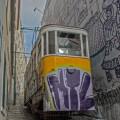 Tram in Lissabon.