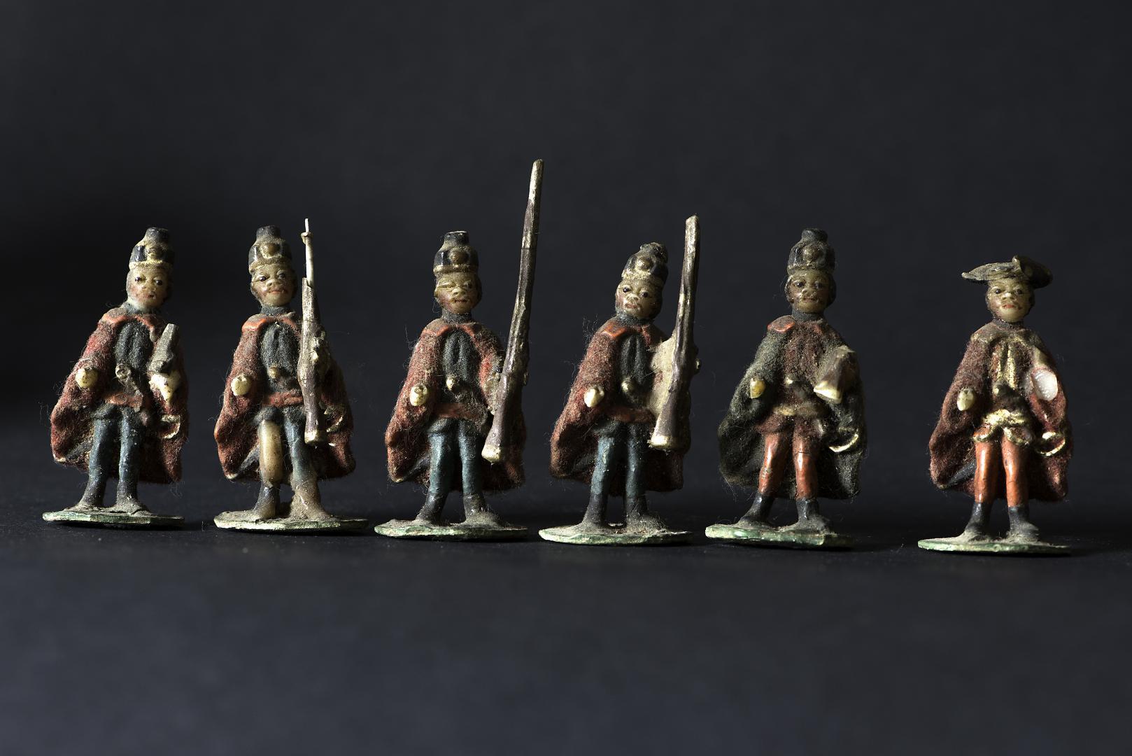 Weihnachtsschmuck Wachs<br>Soldaten Ende 18. Jahrhundert