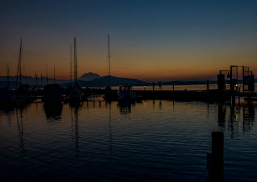 Nach dem Sonnenuntergang am Zugersee