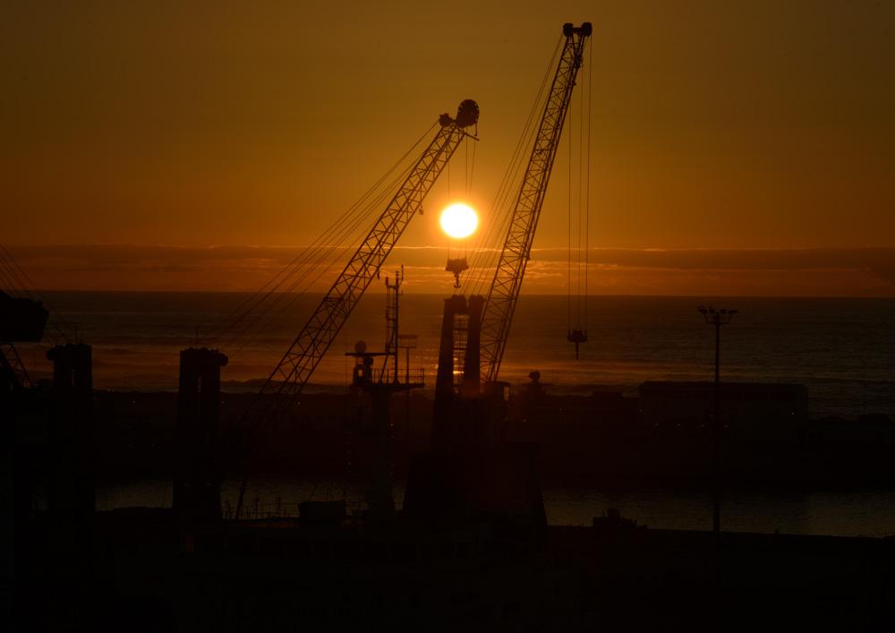 Sonnenuntergang in Casablanca auf dem Kreuzfahrtschiff