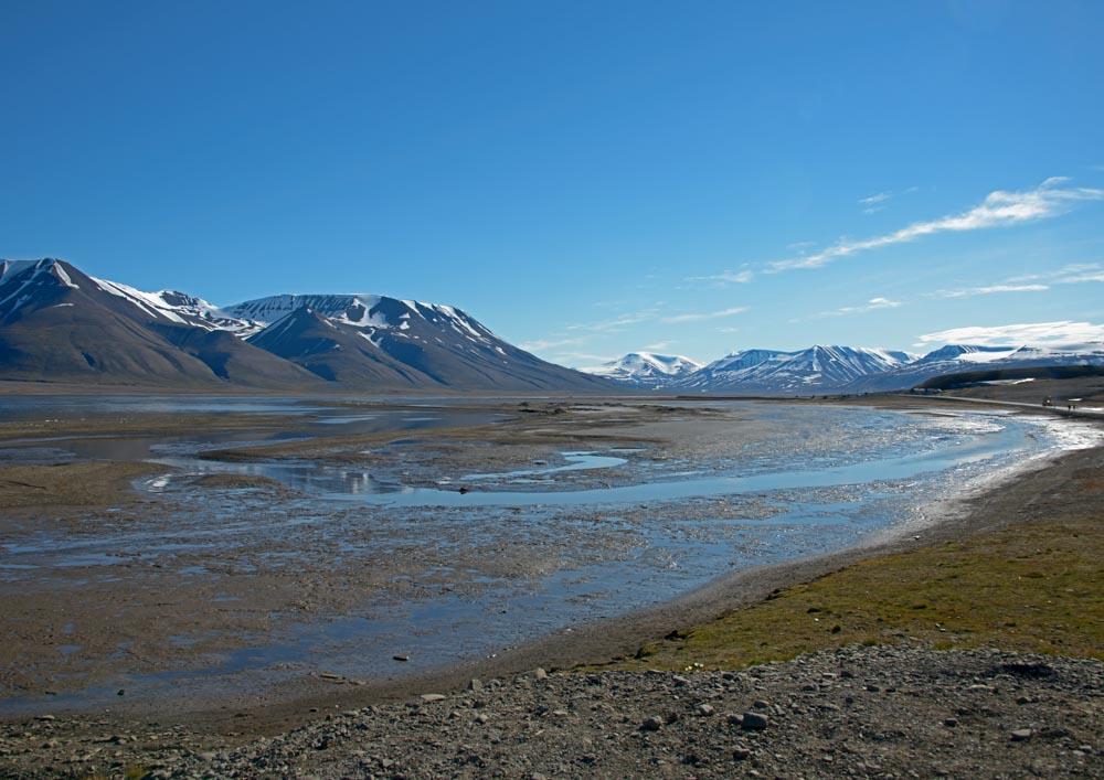 Landschaft auf den Spitzbergen