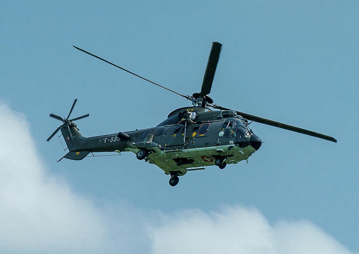 Helikopter beim Flugplatz Emmen aufgenommen