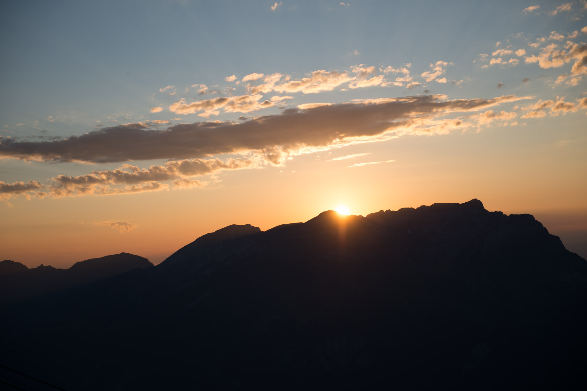 Sonnenuntergang mit Blick vom Stanserhorn